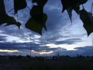 старе фото захід сонця