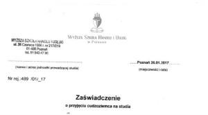 Фальшивка від університету з Познані